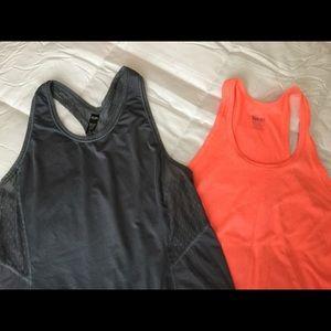 Nike & Victoria's Secret workout shirts.